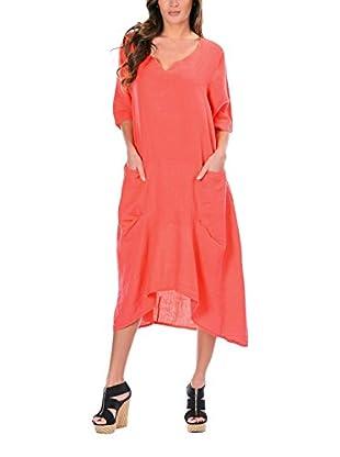 100% lino Vestido Zoe