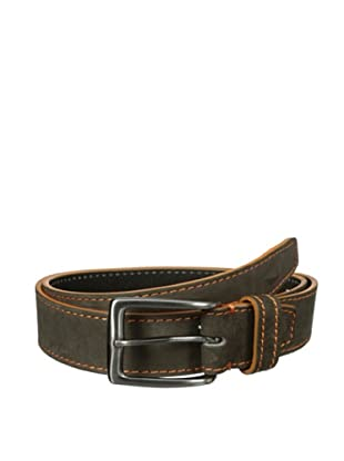 Bolliver Men's Contrast Stitching Belt (Grey/Orange)