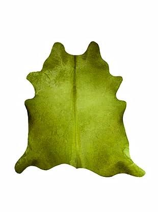 Natural Brand Geneva Cowhide Rug, Lime, 7' x 5' 5
