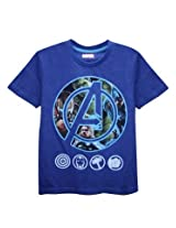 Avenger Royal Blue Melange Half Sleeve Tee
