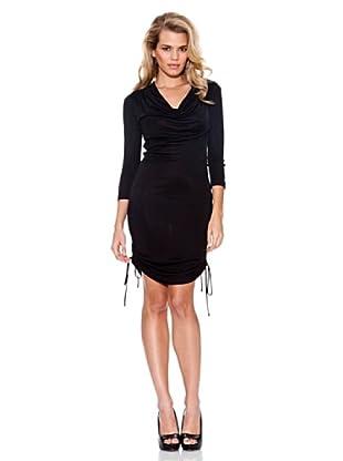 Guess Vestido Fruncidos (Negro)