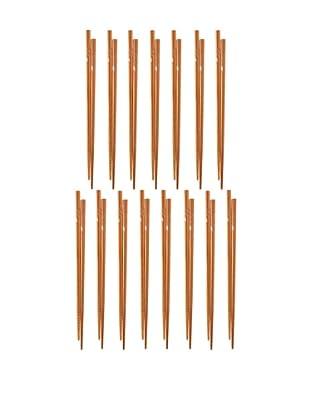 Helen Chen's Asian Set of 15 Engraved Chopsticks