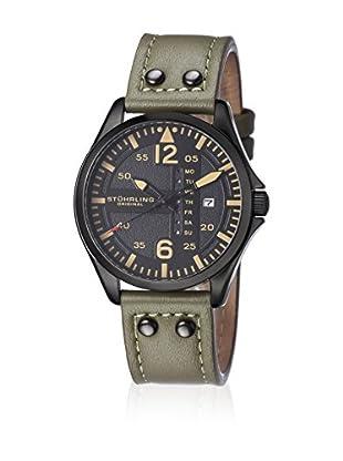 Stührling Original Uhr mit Japanischem Quarzuhrwerk Aviator 699.03 grün 44  mm