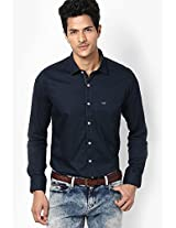 Navy Blue Slim Fit Casual Shirt Lawman Pg3
