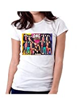 Colorful One Direction-T-Shirt-Women-White