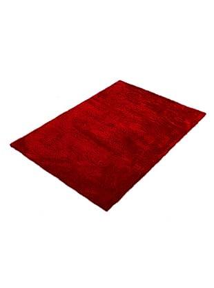 ABC Tappeti Alfombra Shaggy Seda (Coral/Rojo)