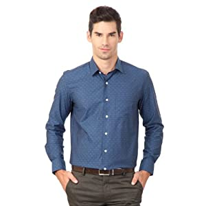Louis Philippe Formal Patterned Shirt