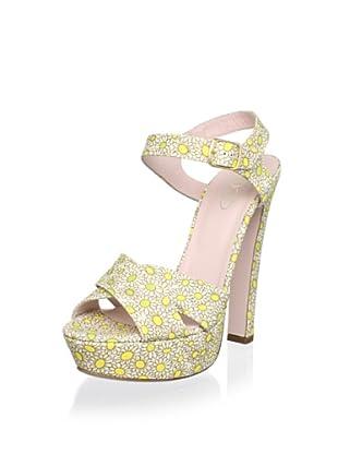 Red Valentino Women's High Sandal (Yellow/Cream)