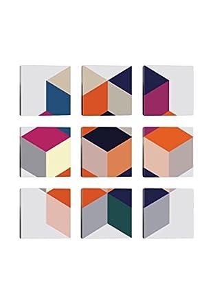 Kaleidoscopic 9-Tile Giclée on Canvas