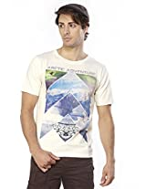Do U Speak Green? Men's Round Neck Organic Cotton T-shirt (dusg_223_whisper White_