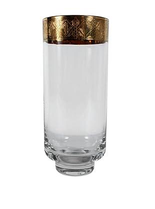 Italian Vase, Clear/Gold