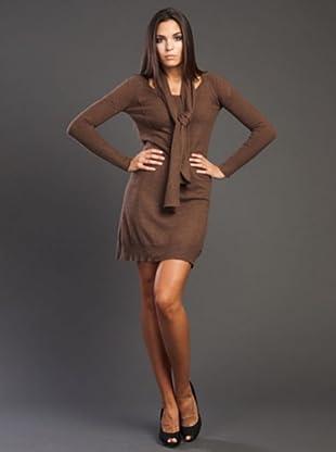 Ikks Vestido Punto (marrón)