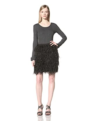 Pink Tartan Women's Oliviana Ostriche Skirt (Black)