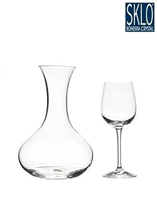 Cristal de Bohemia Juego 7 Piezas Vino Blanco