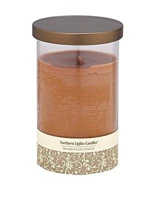 Northern Lights 20-Oz. Glass Pillar Candle, Warm Cinnamon Buns