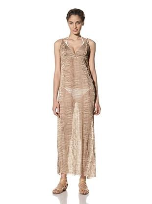 diNeila Women's Maxi Dress (Snake Tulle)