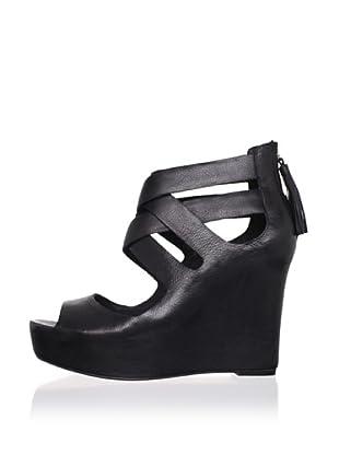 Dolce Vita Women's Jade Wedge Sandal (Black)