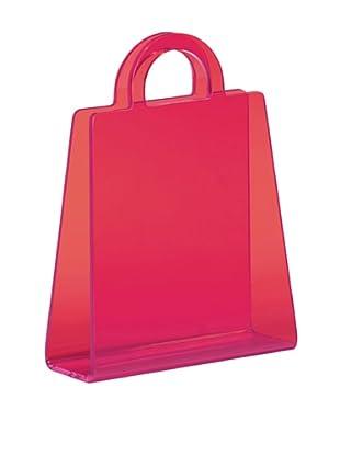 Zuo Purse Magazine Rack, Transparent Pink