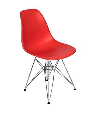 Stilnovo Mid-Century Eiffel Dining Chair, Red