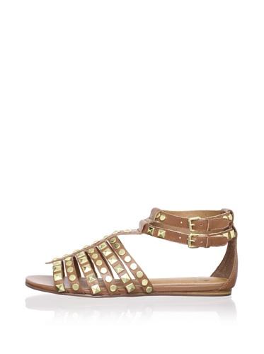 Kelsi Dagger Women's Roxy Flat Studded Sandal (Cognac)