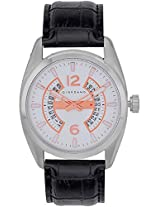 1569-01 White / Black Analog Watch Giordano