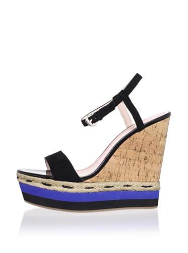 Plenty by Tracy Reese Women's Tess Platform Sandal (Black)