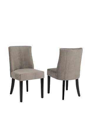 Safavieh Set of 2 Judy Side Chairs, Mushroom Taupe