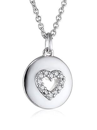 Bijoux pour tous Conjunto de cadena y colgante plata de ley 925 milésimas