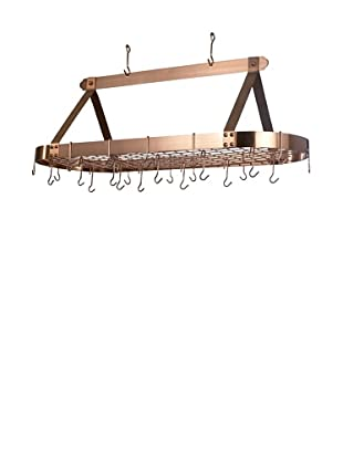 Old Dutch International 24-Hook Oval Pot Rack (Satin Copper)
