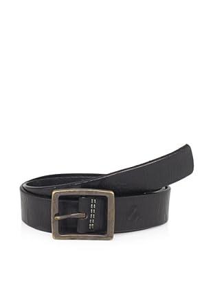 Maker & Company Men's Square Buckle Belt (Black)