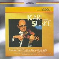 ズスケ独奏 バッハ 無伴奏ヴァイオリンのためのソナタとパルティータの商品写真