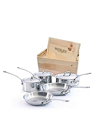 Mauviel M'cook Crated 8-Piece Set with Cast Stainless Steel Handles