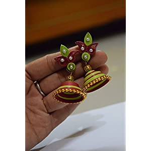 Quillings by SSE - Jumka With Beautiful Jumka Earring