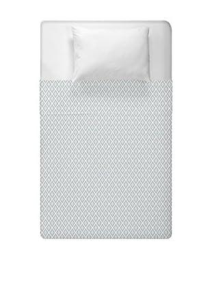 e by design Geometric Duvet Cover (Blue/Grey)
