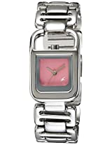 Fastrack Analog Pink Dial Women's Watch - 6097SM02