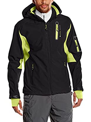 Peak Mountain Giacca Softshell Cavibyks Nero/Lime 2XL