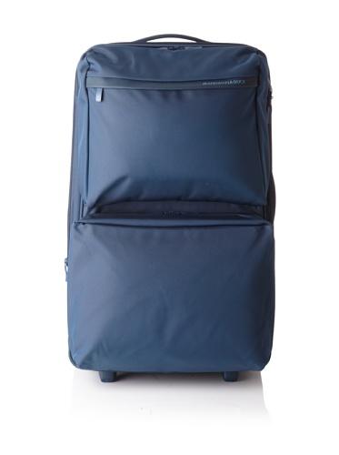 Mandarina Duck Large Multi-Pocket Trolley with Retractable Aluminum Handle (Blue)