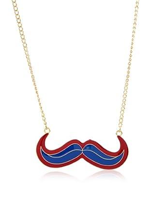 Poète Collar Mustache Bicolor (Azul)