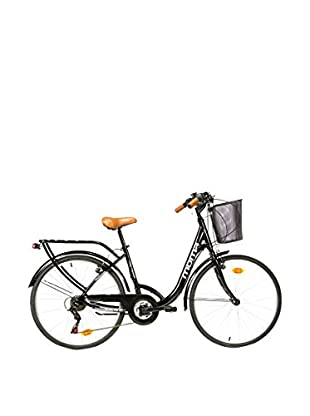 MOMA BIKES Bicicletta 28 Alu 18V City Classic Nero