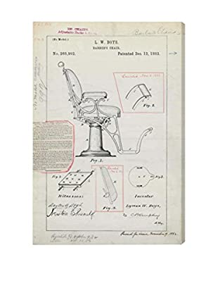 Oliver Gal Barber Chair Patent, 1882 Giclée On Canvas