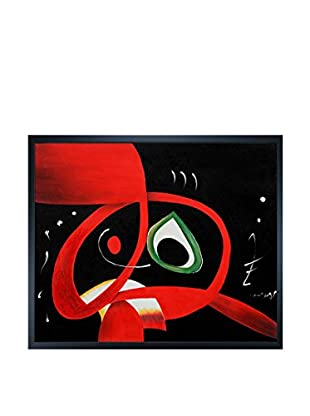 Joan Miro Kopf Framed Hand-Painted Reproduction