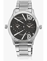 60056 Dtm Silver/Black Analog Watch Giordano