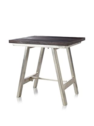 Jamie Young Cottage Side Table, Chocolate/Nickel