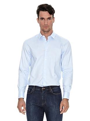 Versace Camisa Lisa (Azul cielo)