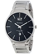 Armitron Men's 20/4914BKSV Stainless Steel Silver-Tone Calendar Window Bracelet Watch