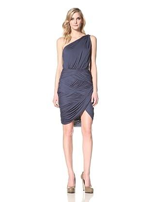 HALSTON HERITAGE Women's One-Shoulder Dress (Ocean)