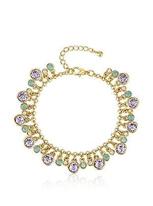 Saint Francis Crystals Pulsera  Metal Dorado / Violeta