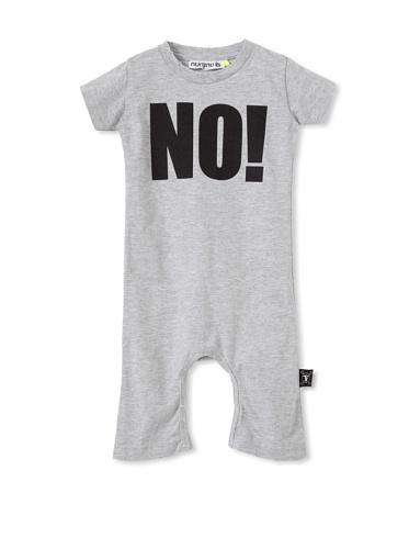 NUNUNU Baby NO! Play Suit (Heather Grey)