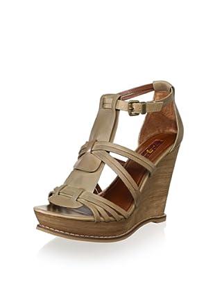 7 for All Mankind Women's Rhemy Wedge Sandal (Stone)