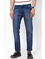 Light Blue Slim Fit Jeans Peter England